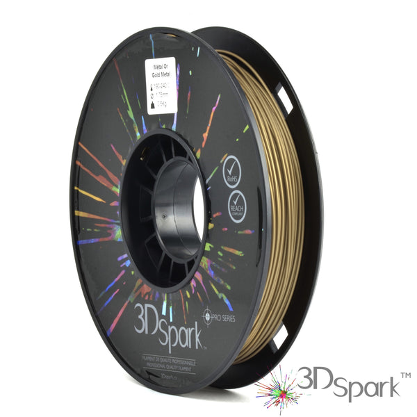 Metal Gold 0.5Kg 1.75mm filament  from 3D Spark