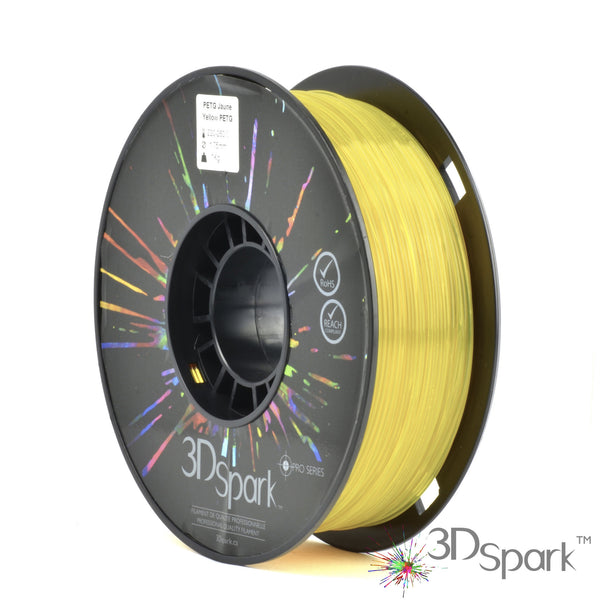 PETG Yellow 1Kg 1.75mm filament  from 3D Spark