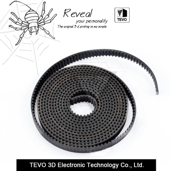TEVO 1m GT2-6mm open timing belt