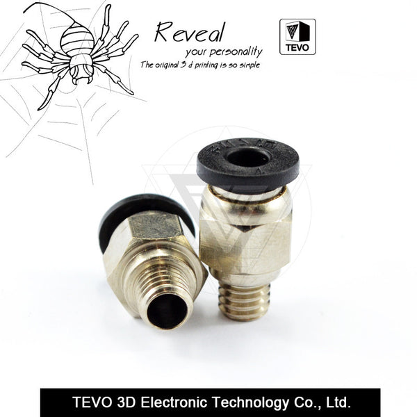 TEVO Pneumatic Connector Fittings PC4-M6