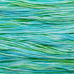hand dyed embroidery floss variegated