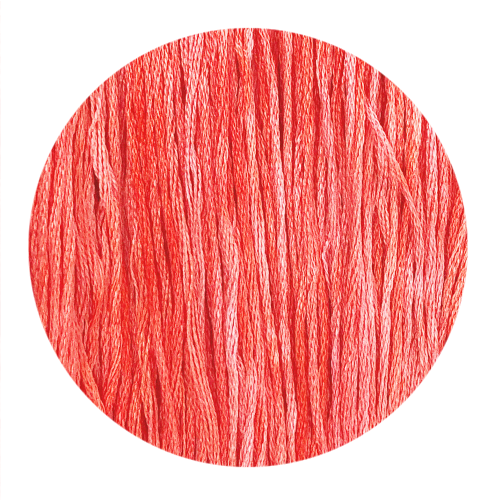 Hand Dyed Thread - Flamingo