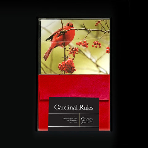 Cardinal Rules Note Cards - Quotes for Life