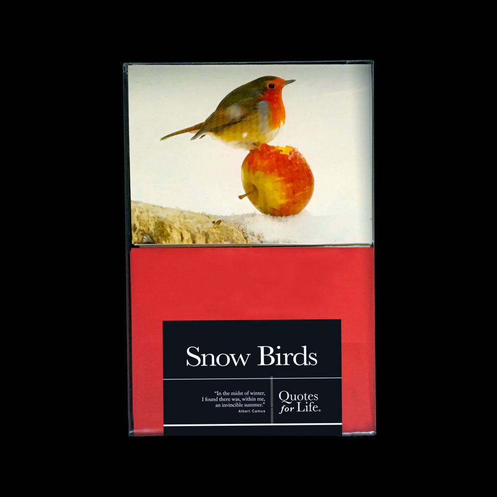 Snow Birds Note Cards - Quotes for Life