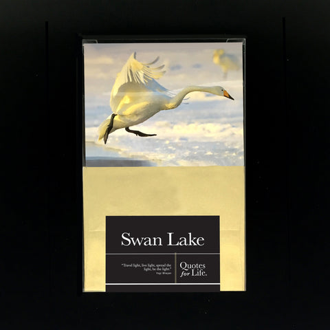 Swan Lake Note Cards - Quotes for Life