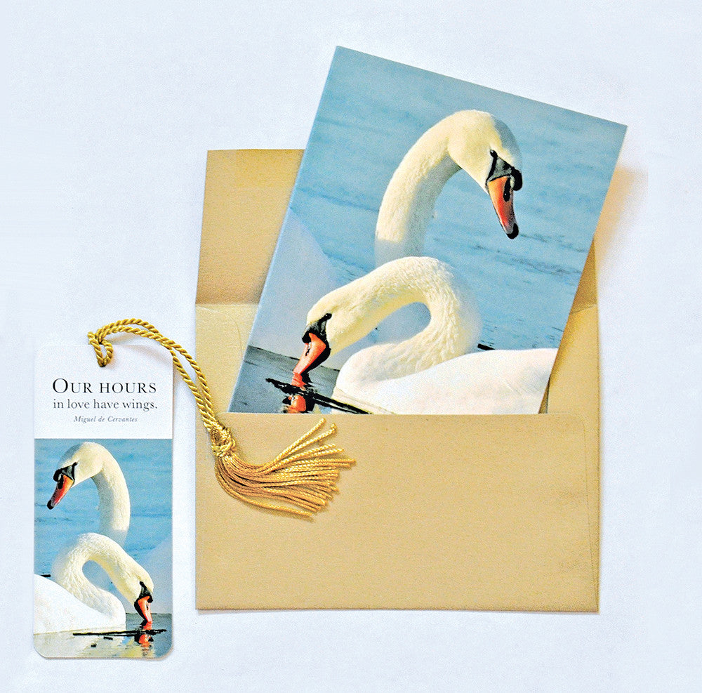 """Our hours in love have wings."" (bookmark and card) - Quotes for Life"