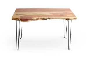 Live Edge Hairpin Slab Table