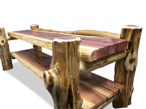 Knaughty Log Co - Knaughty Log Co - Signature Knaughty Log Bench