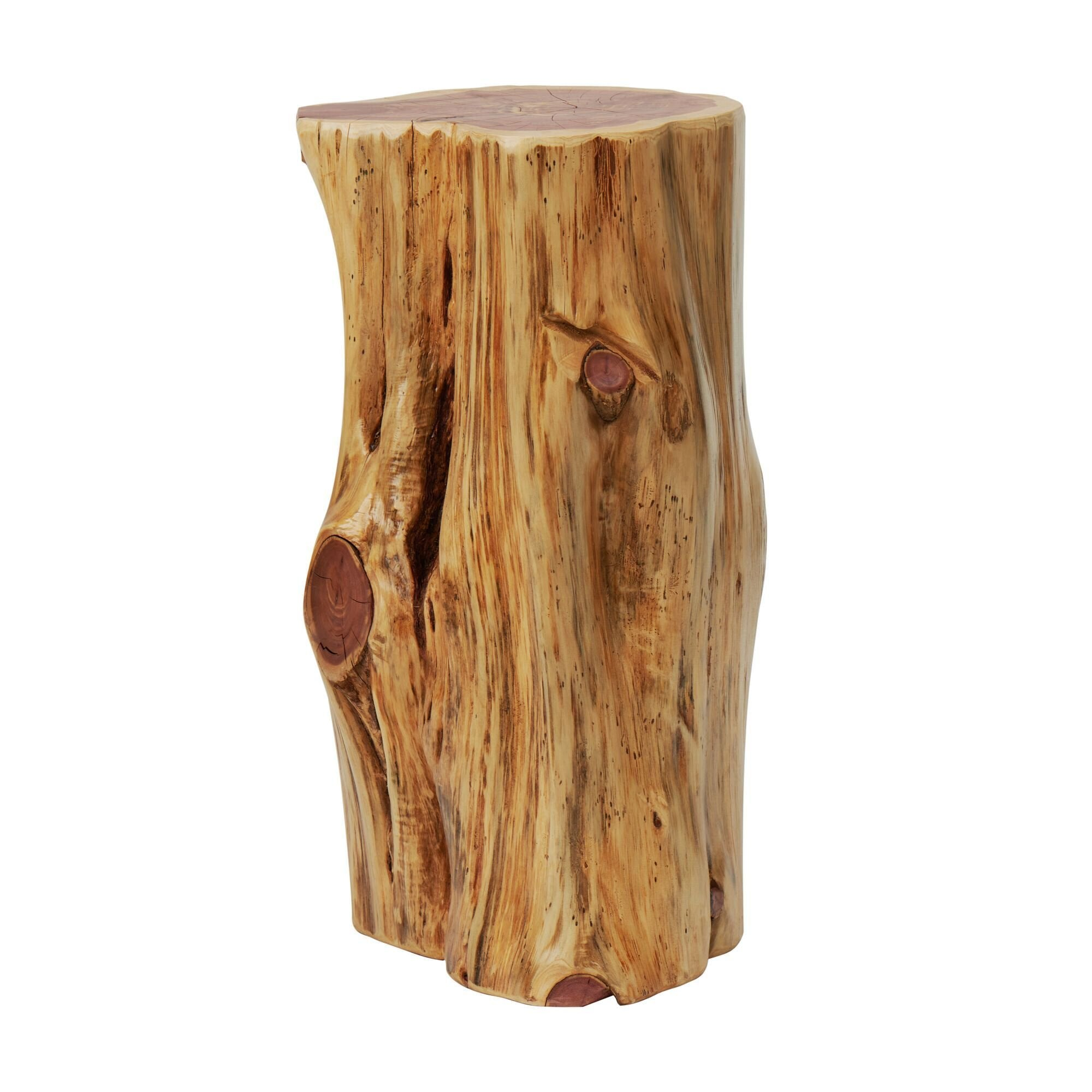Tree Stump End Table Night Stand Stool Knaughty Log Co