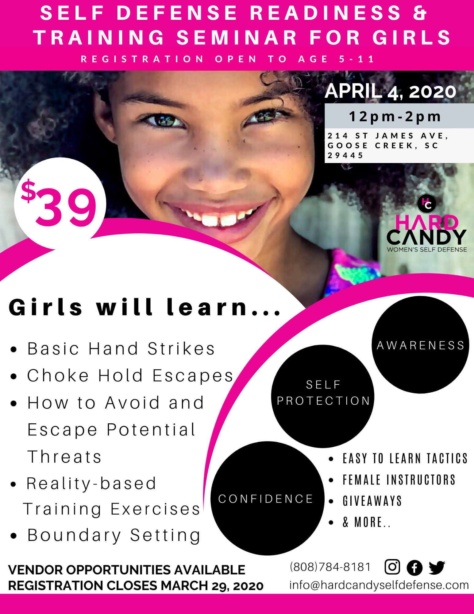Self Defense Training & Readiness For Girls 5-11