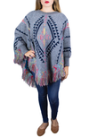PAASEL PONCHO GRIS