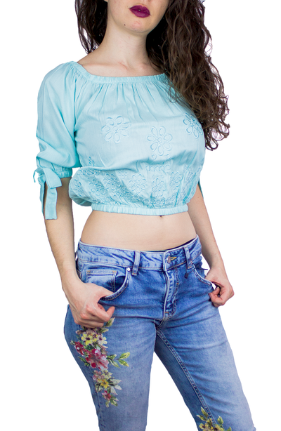 PAASEL CROP TOP MENTA