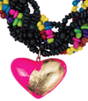 LUV COLLAR DE SEMILLAS NEGRO MULTICOLOR