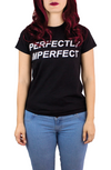 PERFECTLY IMPERFECT BLACK TEE