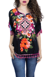 WENEL PONCHO FLORAL