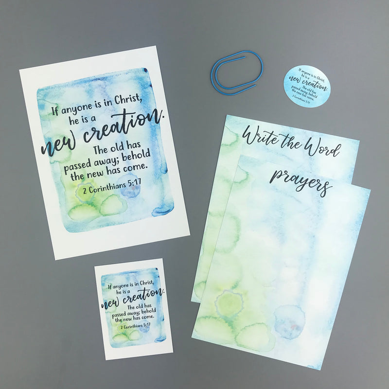 2 Corinthians 5:17 Envelope - Grace Notes Subscription