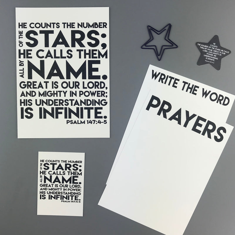 Psalm 147:4-5 Envelope - Grace Notes Subscription