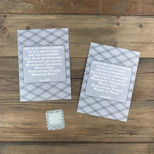 Man Notes Isaiah 9:6 Envelope - Grace Notes Subscription