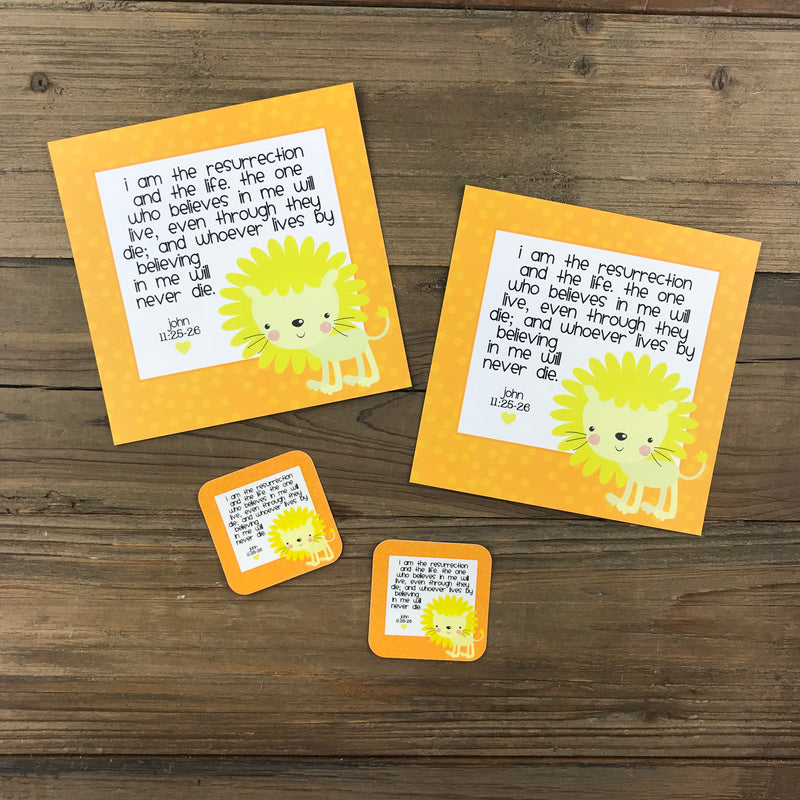 Kid Notes John 11:25-26 Envelope - Grace Notes Subscription