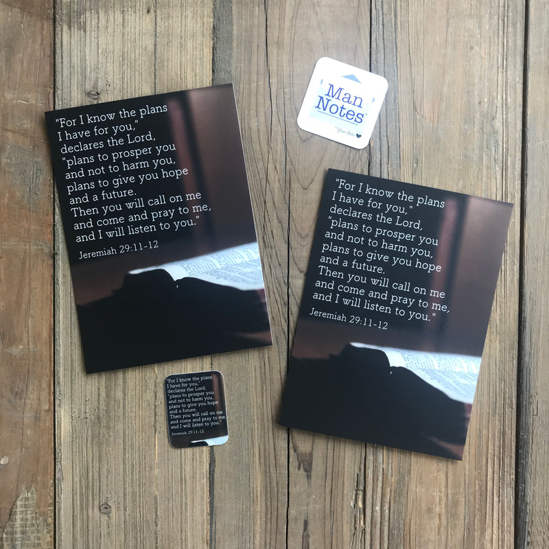 Man Notes Jeremiah 29:11-12 Envelope - Grace Notes Subscription
