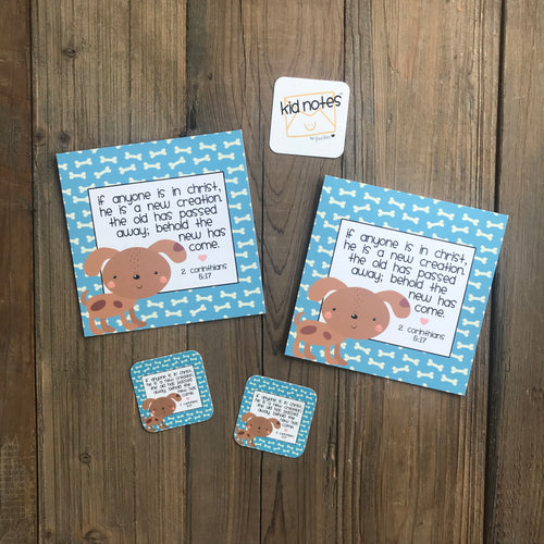 Kid Notes 2 Corinthians 5:17 Envelope - Grace Notes Subscription