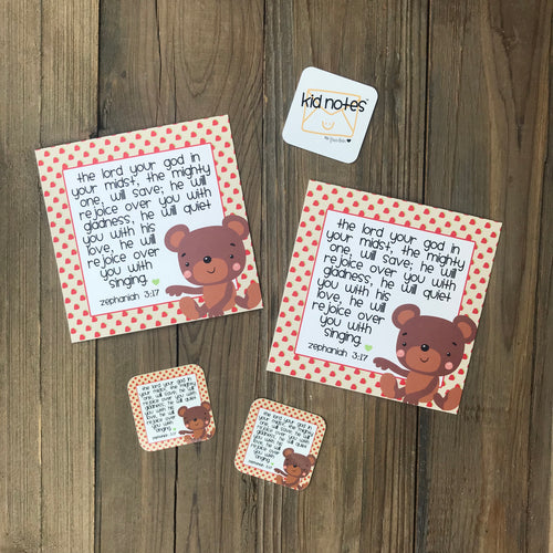 Kid Notes Zephaniah 3:17 Envelope - Grace Notes Subscription
