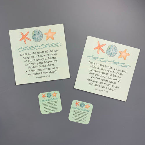 Kid Notes Matthew 6:26 Envelope
