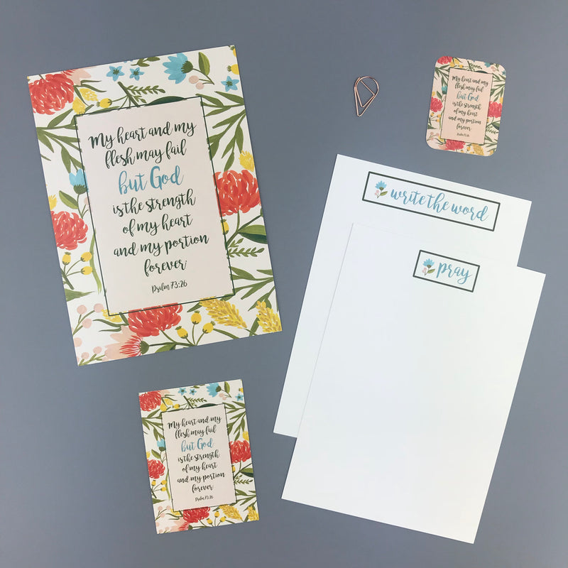 Psalm 73:26 Envelope - Grace Notes Subscription
