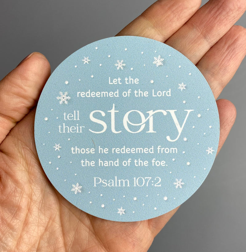 Psalm 107:2 Magnet