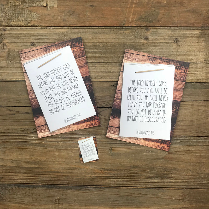 Man Notes Deuteronomy 31:8 Envelope - Grace Notes Subscription