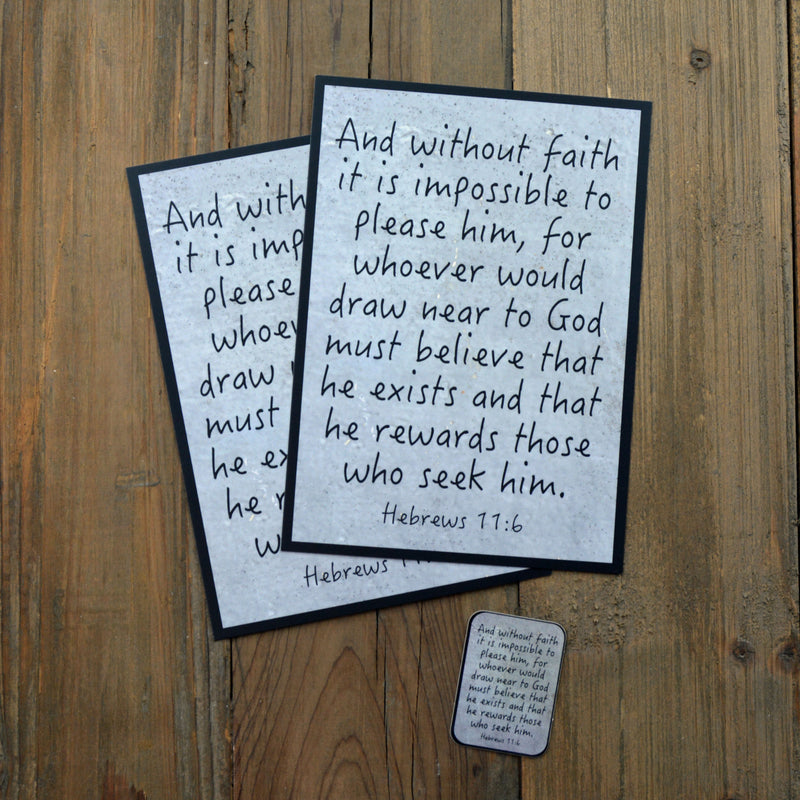 Man Notes Hebrews 11:6 Envelope - Grace Notes Subscription