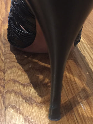 Black Alaia Opened Toed Shoes! - New York Authentic Designer - Alaia
