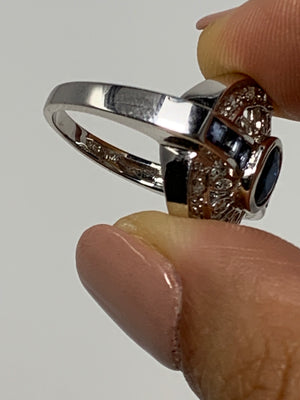 14 K Sapphire and Diamond Ring! - New York Authentic Designer - New Neu Glamour | Preloved Designer Fashion