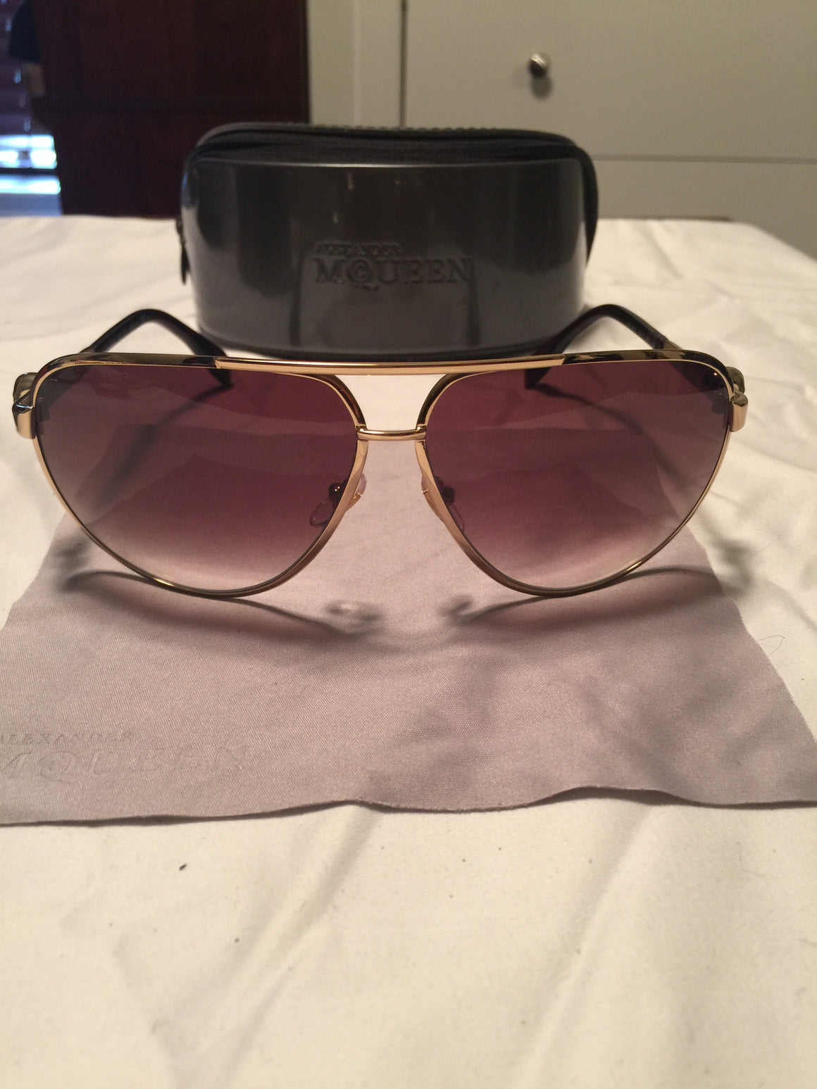 Alexander McQueen Aviator Sunglasses - New York Authentic Designer - Alexander McQueen