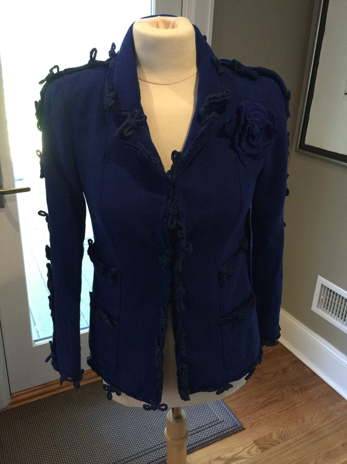 Chanel Blue Blazer - New York Authentic Designer - Chanel
