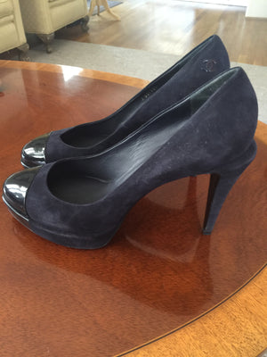 Authentic Chanel Pumps (Blue/Green) - New York Authentic Designer - Chanel