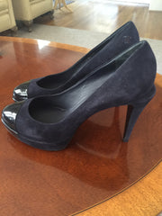 Authentic Chanel Pumps (Blue/Green) - New Neu Glamour