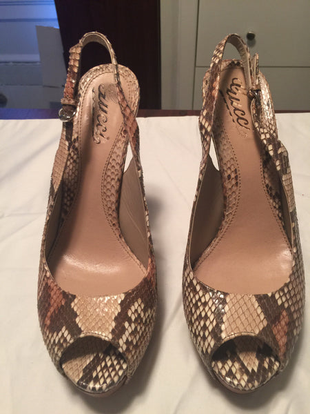 Gucci Snakeskin Platform Pumps - New York Authentic Designer - Gucci