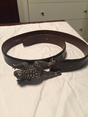Barry Kieselstein Cord Belt with Frog Buckle - New York Authentic Designer - Kieselstein-Cord