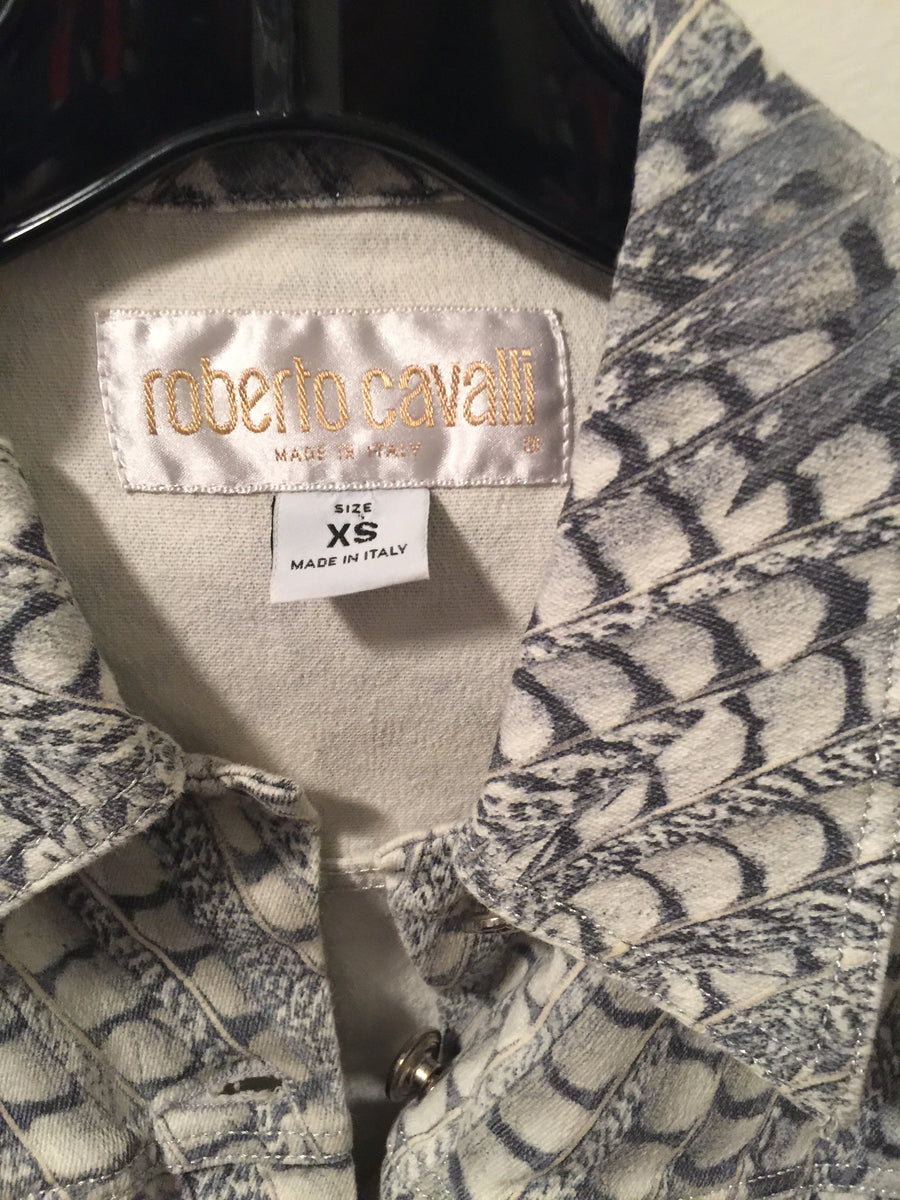 Roberto Cavalli Denim Jacket - New York Authentic Designer - Roberto Cavalli