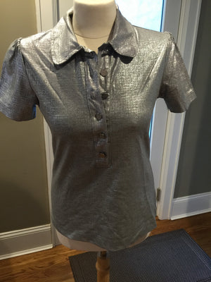 Tory Burch Grey Polo Shirt - New York Authentic Designer - Tory Burch