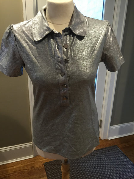 Tory Burch Grey Polo Shirt - New Neu Glamour