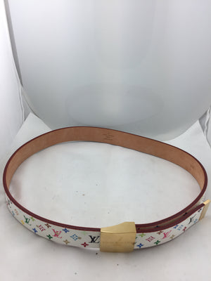 Louis Vuitton Multi-Colored LV Print Belt - New York Authentic Designer - Louis Vuitton