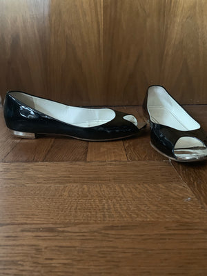 Chanel open toe flats - New York Authentic Designer - New Neu Glamour | Preloved Designer Fashion