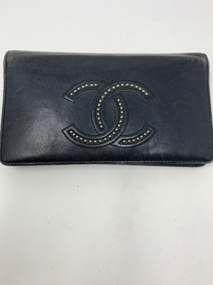Chanel Studded CC Wallet!