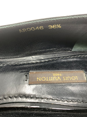 Louis Vuitton Black Patent Leather Shoes!