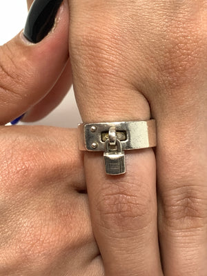 Hermès H Lock Sterling Silver Ring. - New York Authentic Designer - Hermès