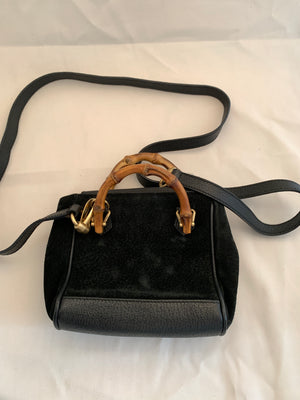 Vintage Gucci Suede Crossbody Bag - New York Authentic Designer - Gucci