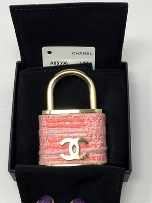 Chanel Lock In Tweed Brooch - New York Authentic Designer - Chanel