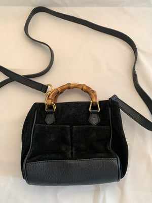 Vintage Gucci Suede Crossbody Bag
